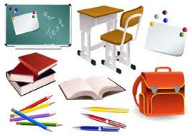 Office school supplies clipart 4