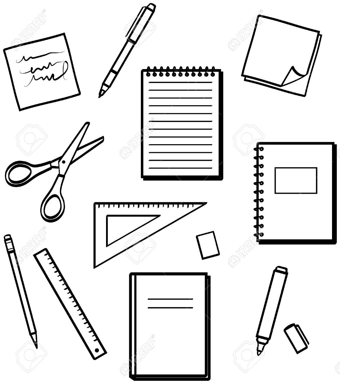 Office school supplies clipart 5
