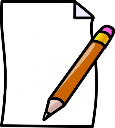 Paper and pencil clipart 2