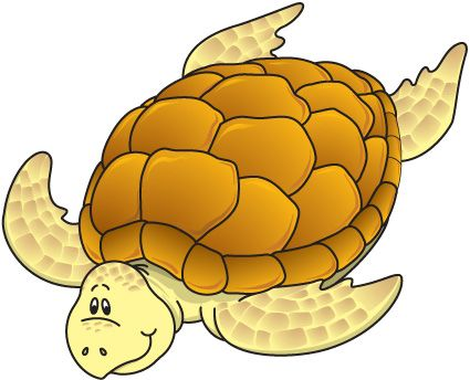 Party sea turtle clipart