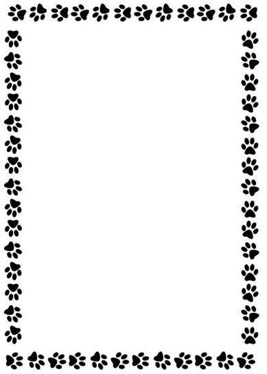 Paw print paw border clipart 4