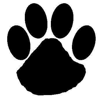 Paw print wildcat paw clip art