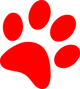 Paw prints clipart