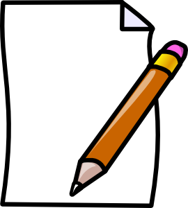 Pencil and paper clipart free images 4