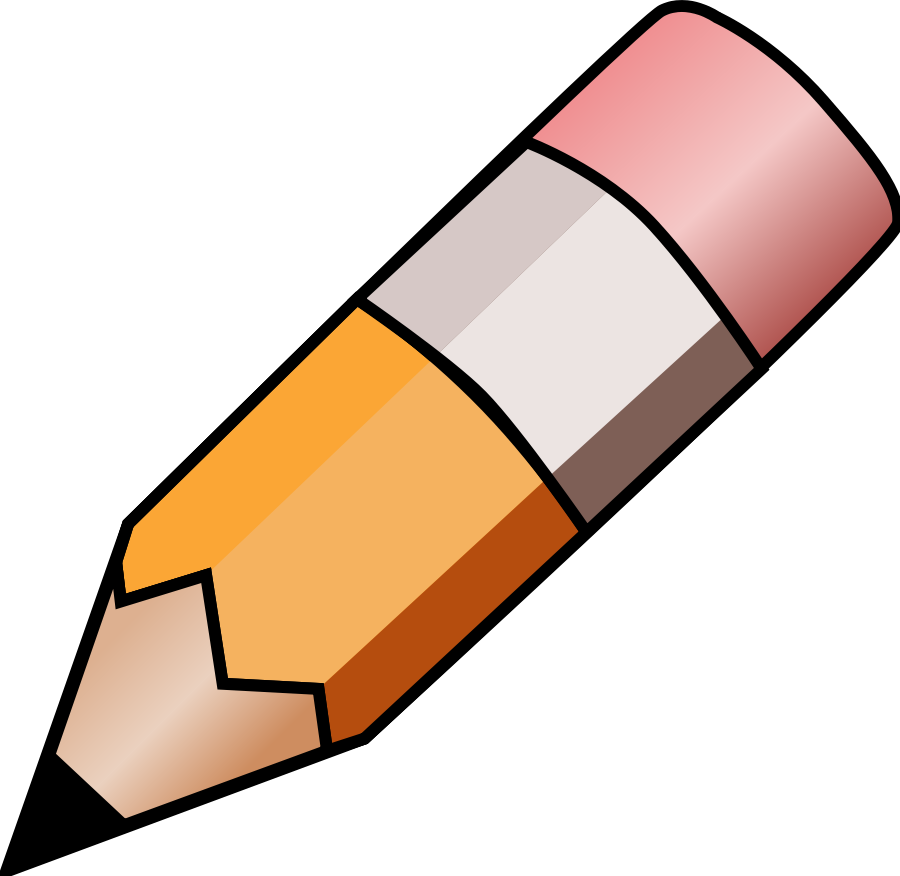 Pencil clipart black and white free images 2