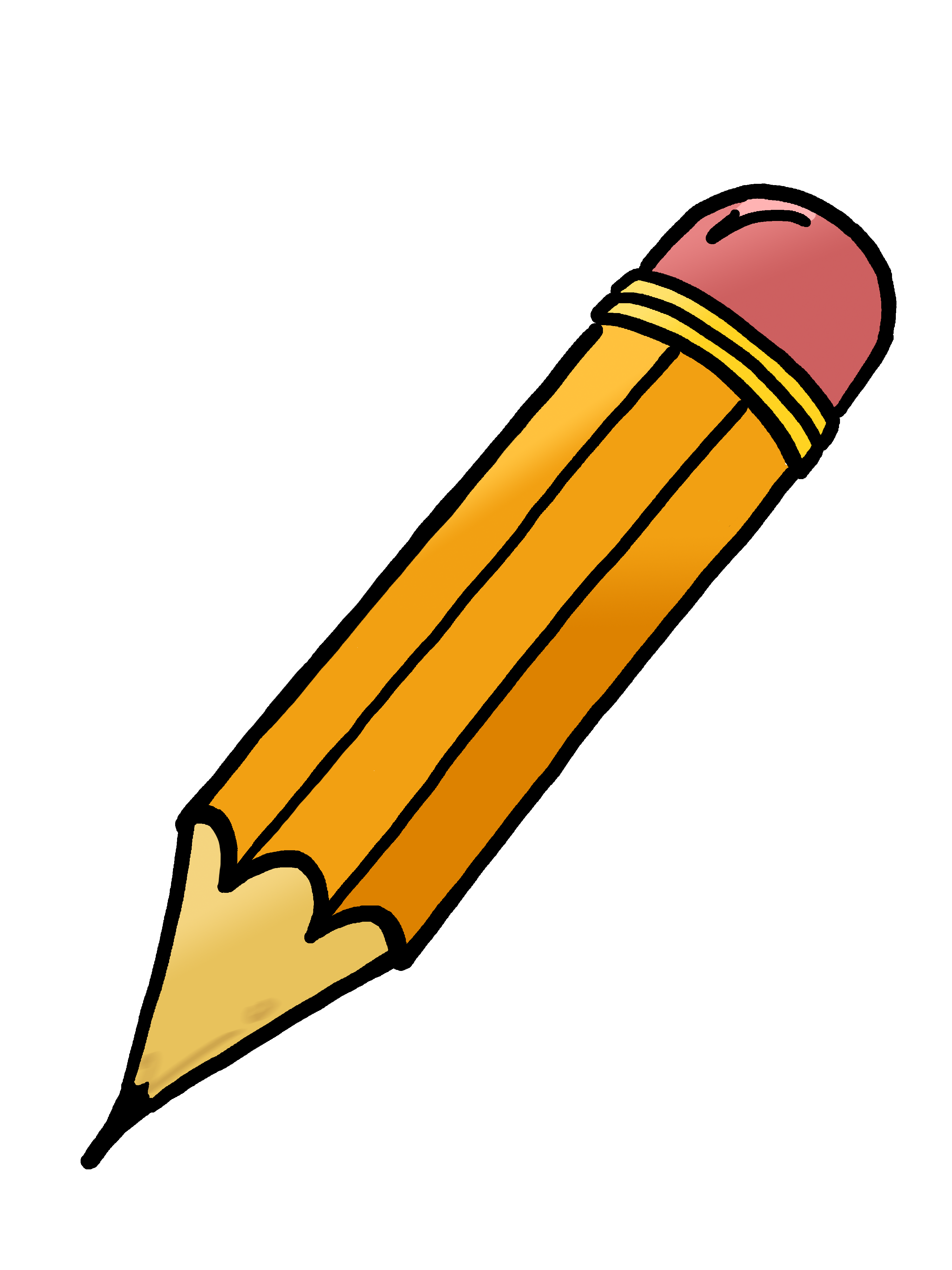 Pencil clipart black and white free images