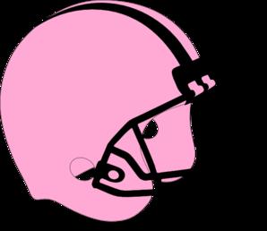 Pink football helmet clip art 2