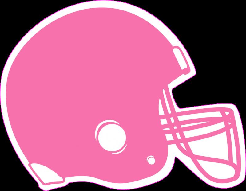 Pink football helmet clip art