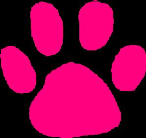Pink paw print clip art at vector clip art