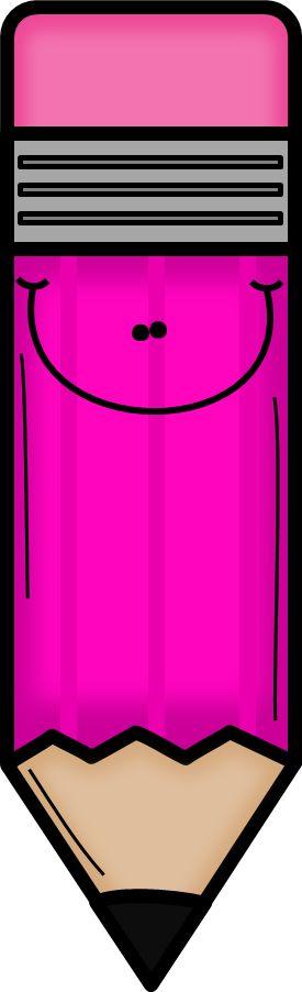Pink pencil clip art school clipart