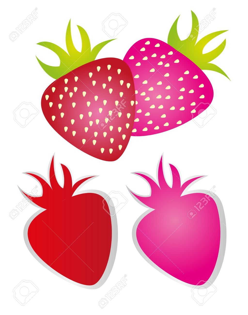 Pink strawberry clipart clipartfox 2