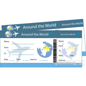 Plane tickets clipart