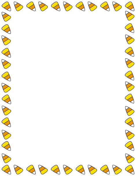 Printable candy corn border free pdf and downloads clip art