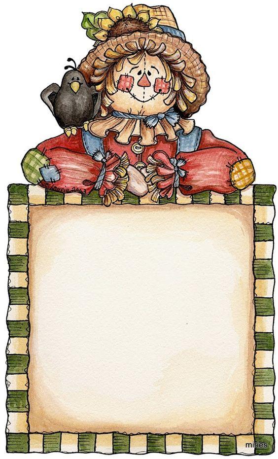 Printable scarecrow clipart image