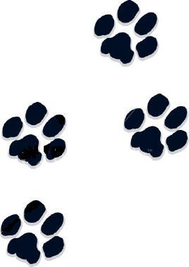 Puppy paw print clip art