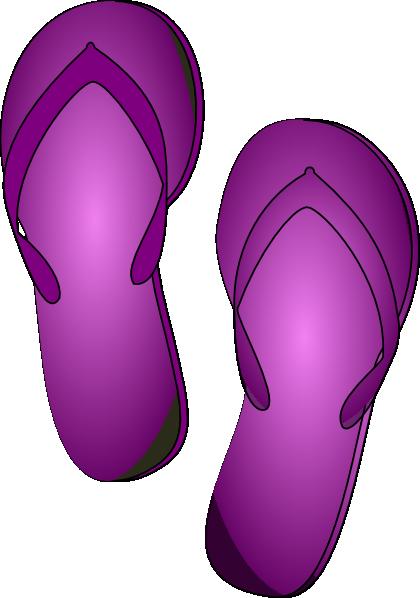 Purple flip flop clip art at vector clip art