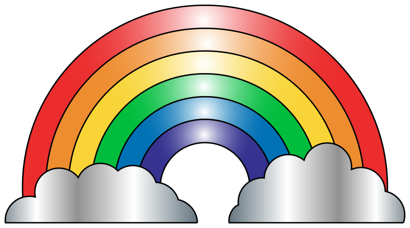 Rainbow clip art free clipart images famclipart