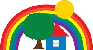 Rainbow clip art rainbow clipart fans 4