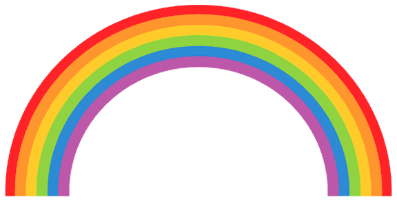 Rainbow clipart black and white free images 5