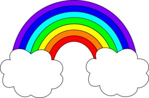 Rainbow clipart black and white free images