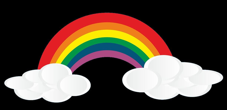 Rainbow free to use clip art 3