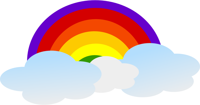 Rainbow free to use clipart 2