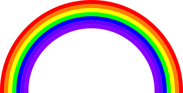 Rainbow free to use clipart 3