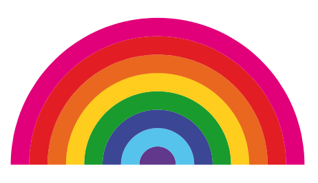 Rainbow free to use clipart