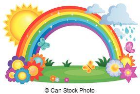 Rainbow sunset clipart clipartfox