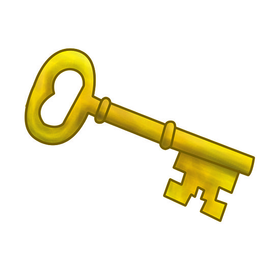 Red key to success clipart