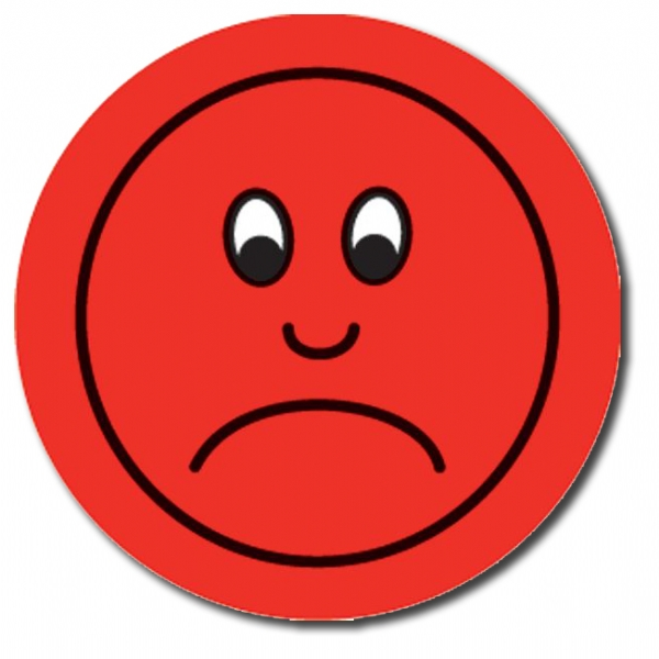 Red sad face clipart 2