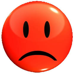 Red sad face clipart 3