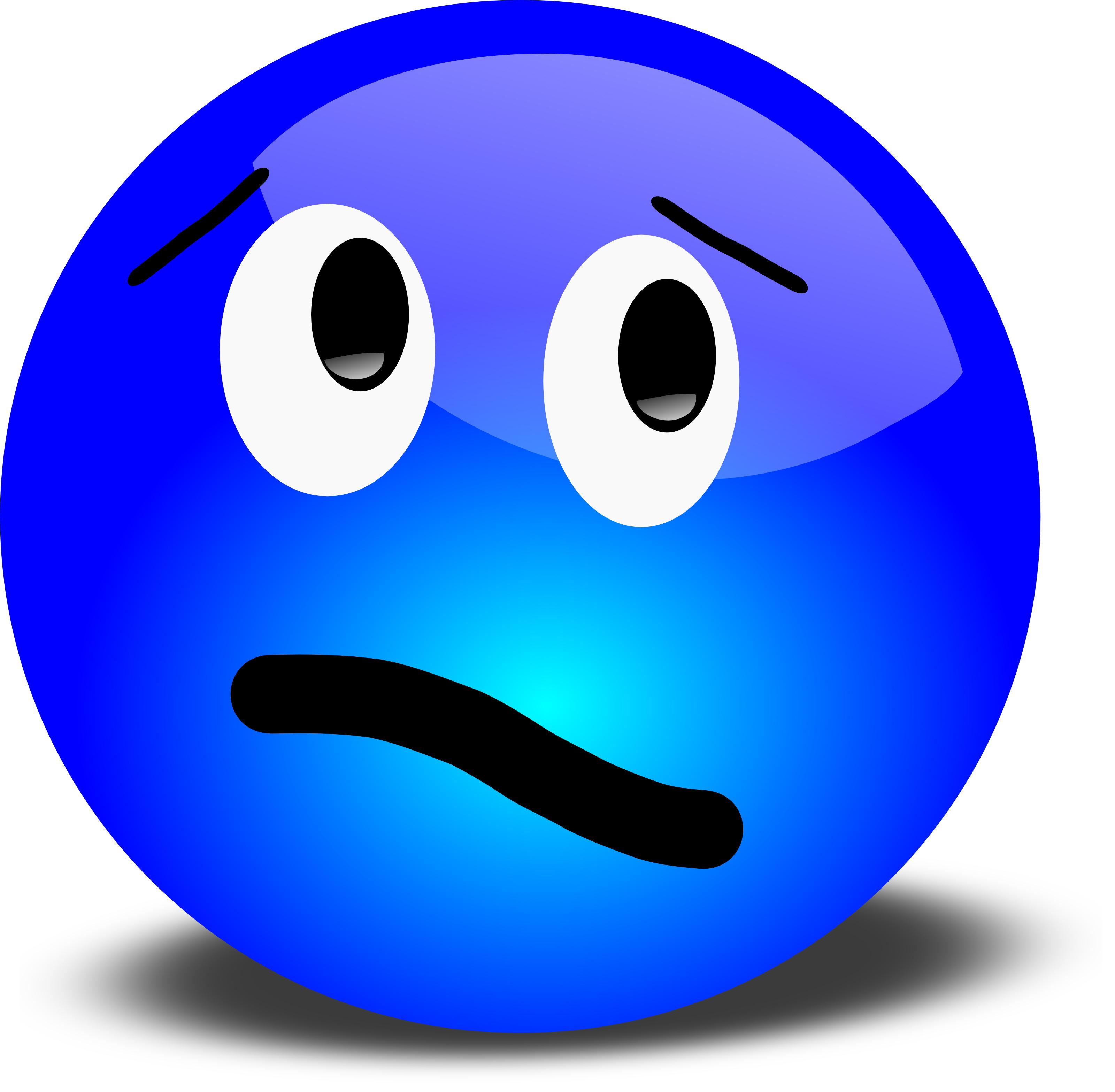 Sad face clip art image 2 2