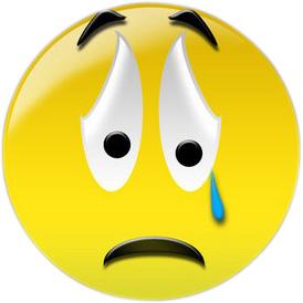 Sad face clip art image 2