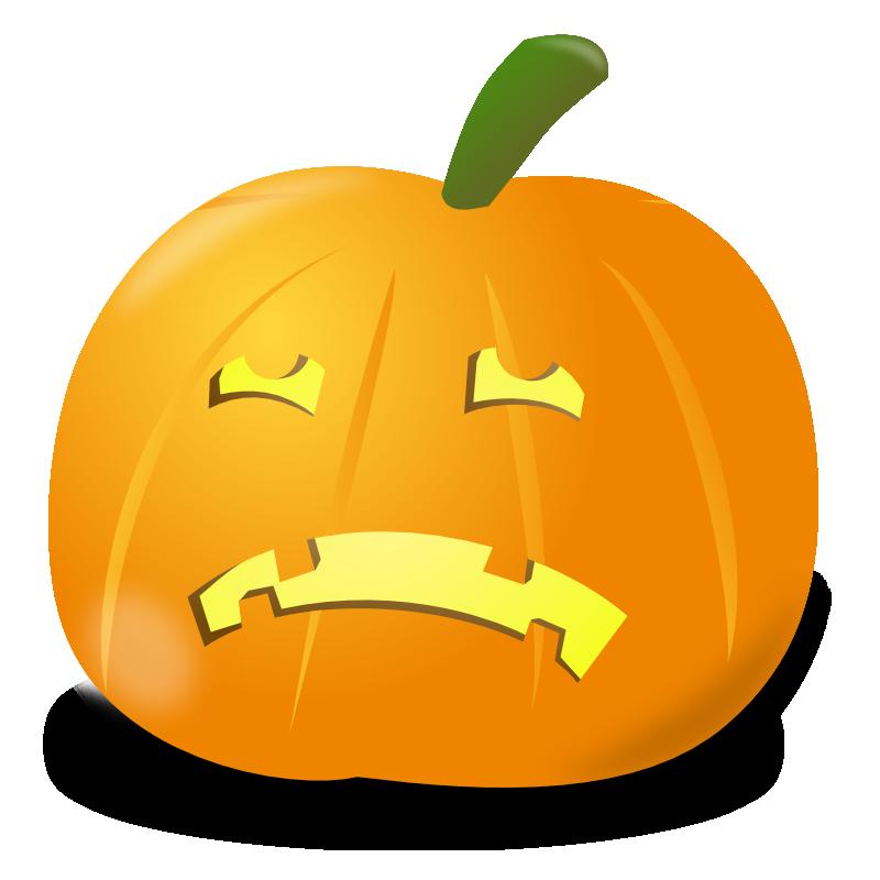 Sad face clipart pumpkin 2