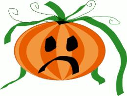Sad face clipart pumpkin