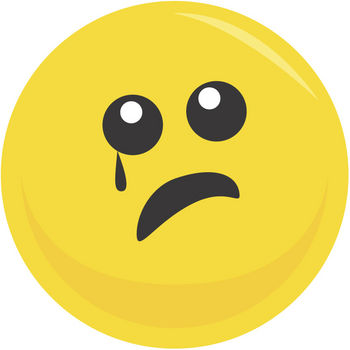 Sad face crying clipart