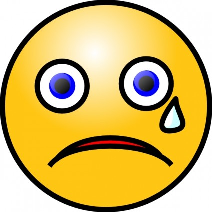 Sad face free sad smiley clip art vector for