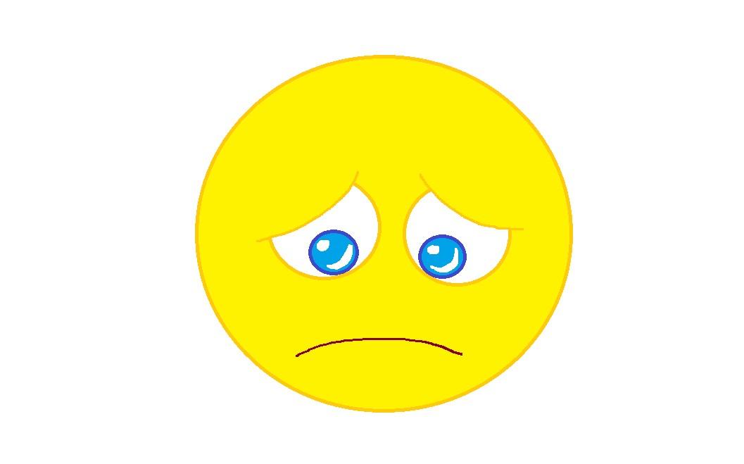 Sad face sad smiley clipart free images 2