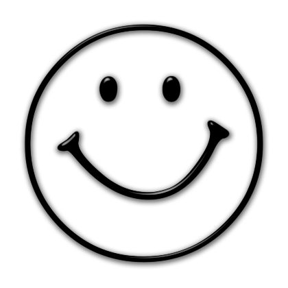 Sad face smiley face black and white clipart