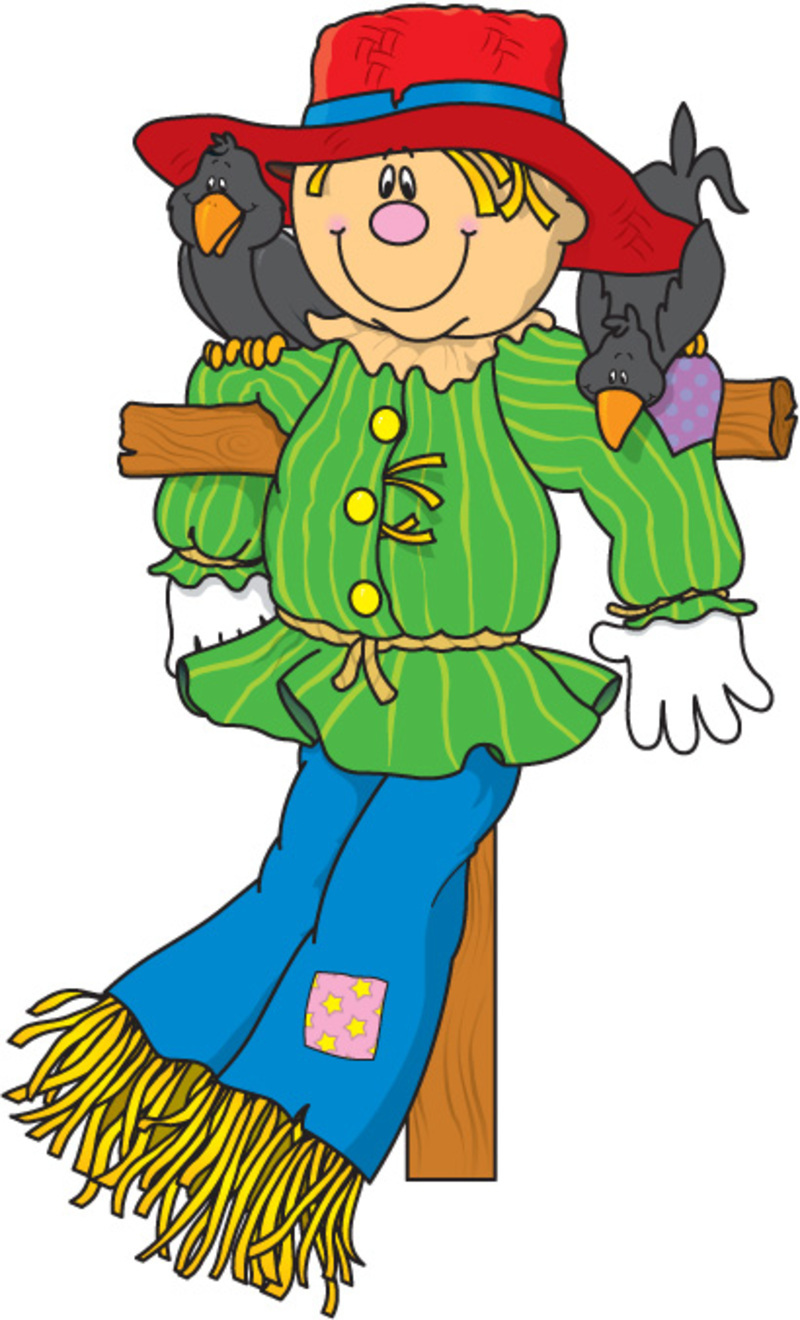 Scarecrow clip art printable free clipart images 4