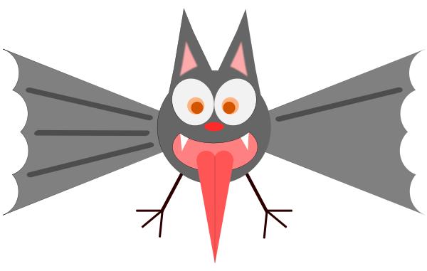 Scared bat clip art download