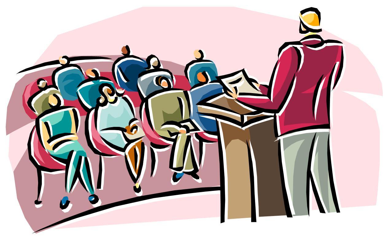 School meeting clipart 2