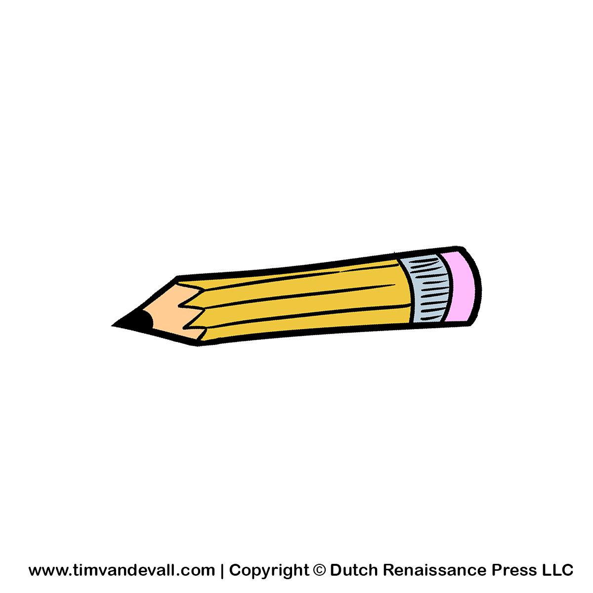 School pencil clipart 4