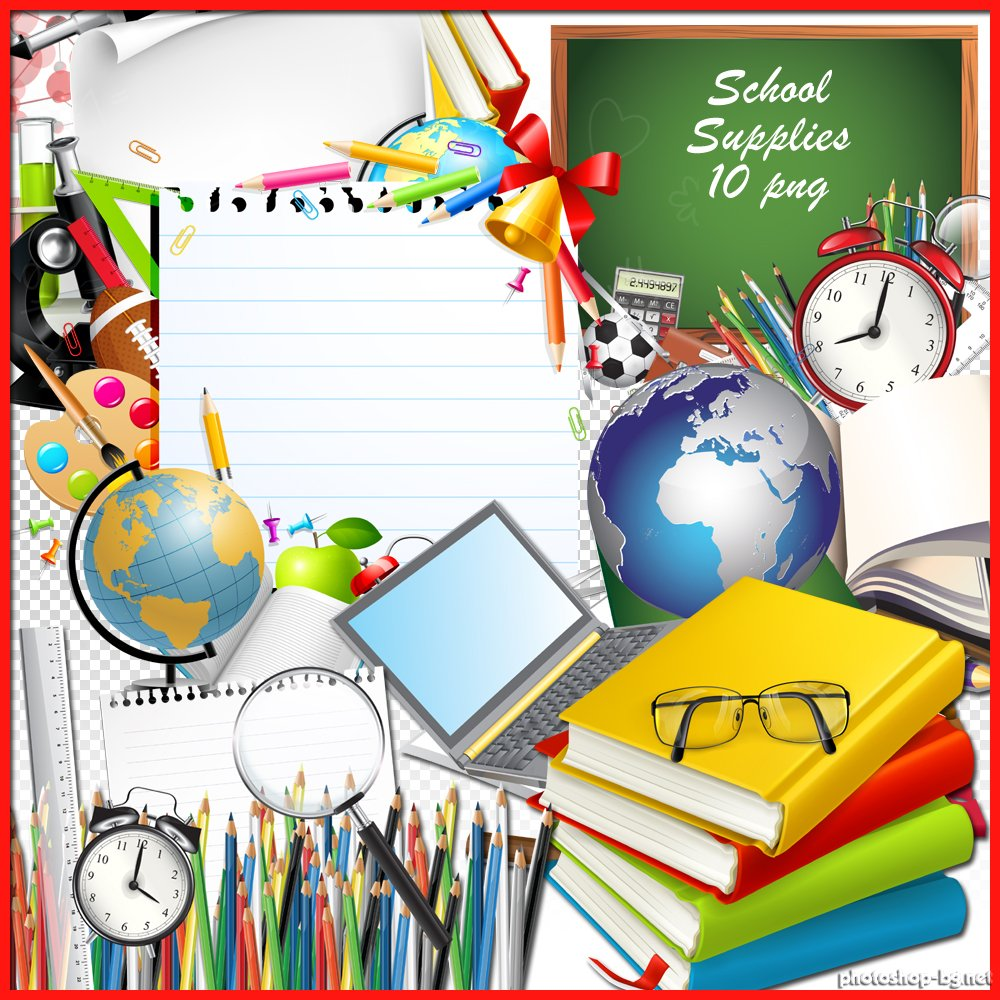 School supplies border clipart free images 7