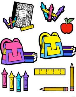 School supplies clip art border free clipart images 2