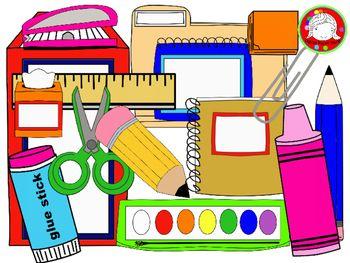 School supplies clipart huge clips personal