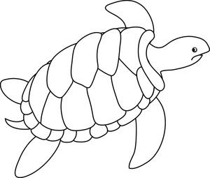 Sea turtle swimming turtle clipart 2
