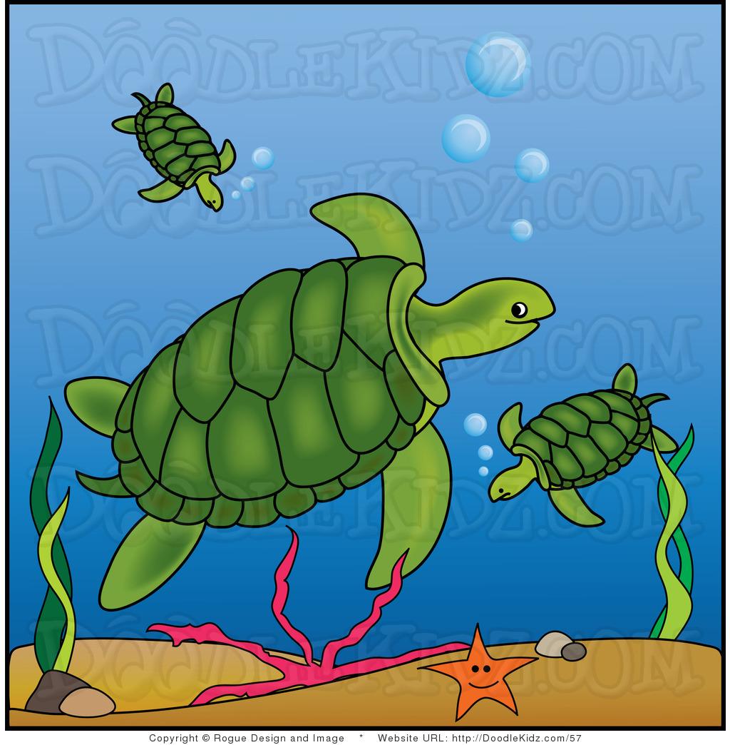 Sea turtle swimming turtle clipart