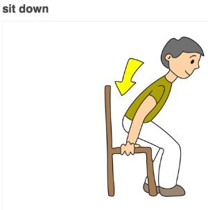 Sit down clip art 4